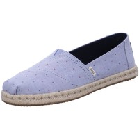 Schuhe Damen Slipper Toms Slipper Alpargata 10015054 blue Woven 10015054 blau