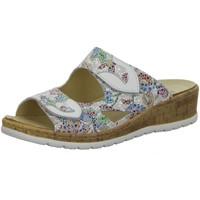 Schuhe Damen Pantoffel Longo Pantoletten -Bequempantolette,2xweiss 1044755 weiß