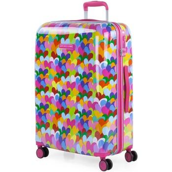 Taschen Damen Hartschalenkoffer Agatha Ruiz de la Prada Herzen Farben Kapazität 60 L Fuchsia