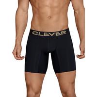Unterwäsche Herren Boxer Clever Lange Boxershorts Kumpanias Perlschwarz