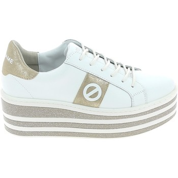 Schuhe Damen Sneaker Low No Name Boost Blanc Or Weiss