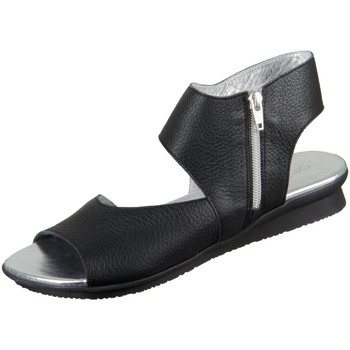 Schuhe Damen Sandalen / Sandaletten Arche Sandaletten Aurock Aurock noir argent Vachette fast Aurock schwarz