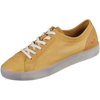 Schuhe Damen Sneaker Low Softinos Schnuerschuhe Sady P900584007 orange Washed Leather P900584007 gelb