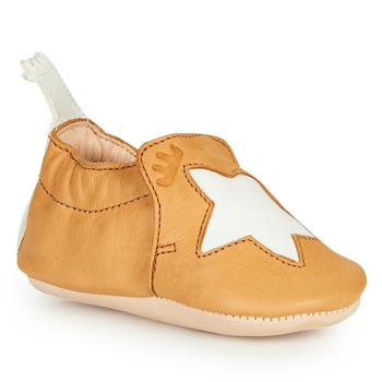 Schuhe Kinder Hausschuhe Easy Peasy BLUMOO ETOILE Cognac