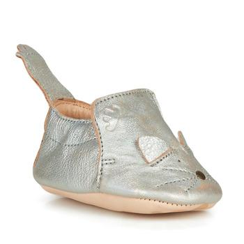 Schuhe Kinder Hausschuhe Easy Peasy BLUMOO CHAT Grau