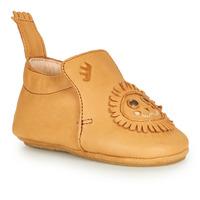 Schuhe Kinder Hausschuhe Easy Peasy BLUBLU LION Cognac