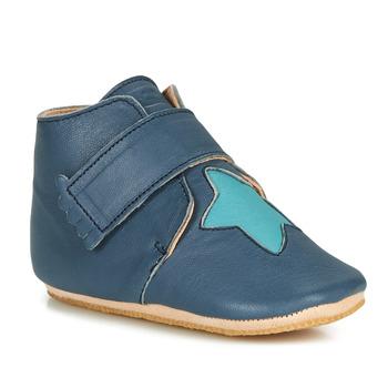 Schuhe Kinder Hausschuhe Easy Peasy KINY ETOILE Blau
