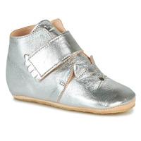 Schuhe Mädchen Hausschuhe Easy Peasy KINY CHAT Silbern