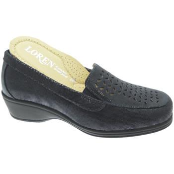 Schuhe Damen Slipper Calzaturificio Loren LOK4013bl blu