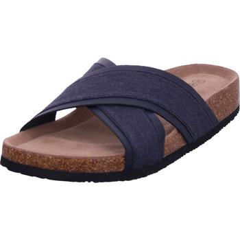 Schuhe Herren Pantoletten Hengst - T40520 blau