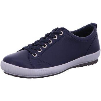 Schuhe Damen Sneaker Low Legero Schnuerschuhe 6-00823-80 blau