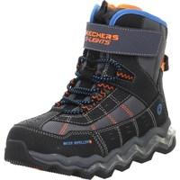 Schuhe Kinder Wanderschuhe Skechers Kinderstiefel Polar Rush Schwarz,Orangefarbig