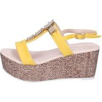 Schuhe Damen Sandalen / Sandaletten Solo Soprani sandalen kunstleder gelb