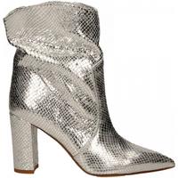 Schuhe Damen Low Boots Martina T TRONCHETTO DELHI argento