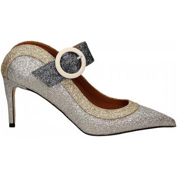 Schuhe Damen Pumps Martina T SABOT GLITTER argento