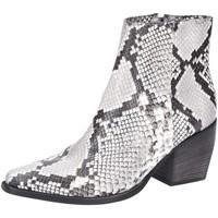 Schuhe Damen Stiefel Kennel + Schmenger Stiefeletten Diamond Boa Grey Leather 2172020296 animal
