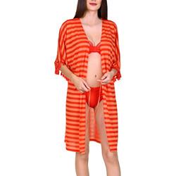 Kleidung Damen Tuniken Lisca Offene Strandtunika im Halbarm Itala Marina Sand