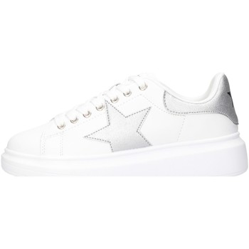 Schuhe Damen Sneaker Low Shop Art SA020003 Sneaker Frau Weiß / Silber Weiß / Silber