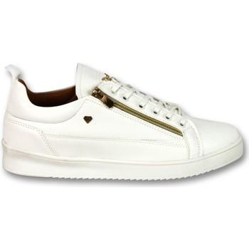 Schuhe Herren Sneaker Low Cash Money CMP White Gold Weiß
