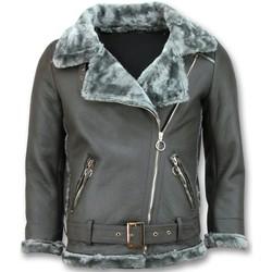 Kleidung Damen Lederjacken / Kunstlederjacken Z Design Lammy Coat Shearling Winter Jacket Da Grau