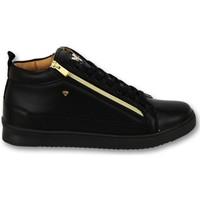 Schuhe Herren Sneaker Low Cash Money Bee Black Gold V CMS Schwarz