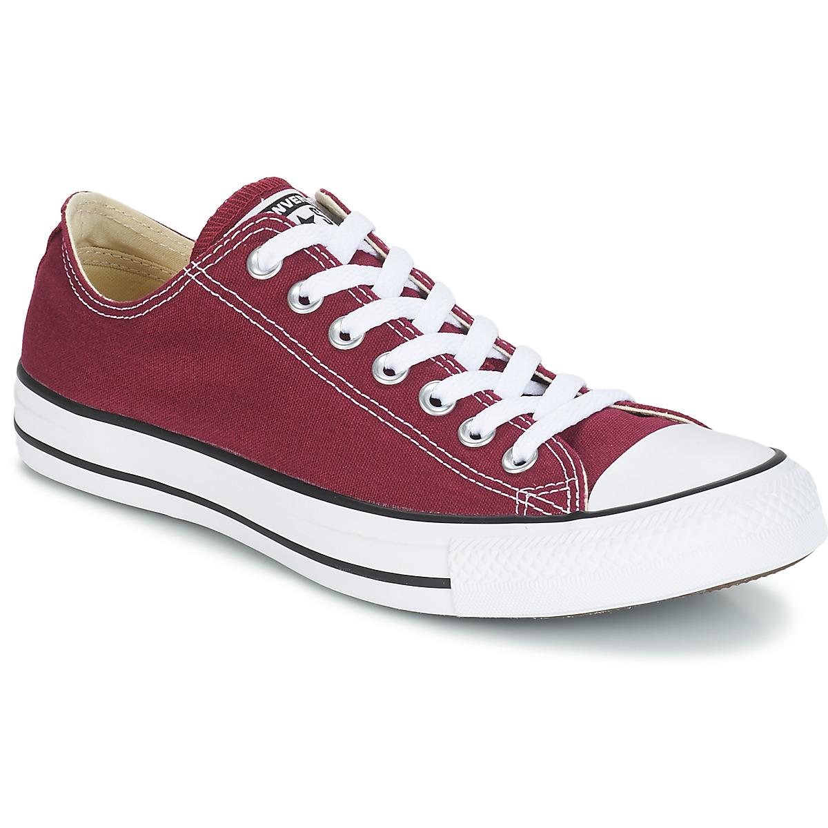 Converse CHUCK TAYLOR ALL STAR CORE OX Bordeaux - Kostenloser Versand bei Spartoode ! - Schuhe Sneaker Low  51,99 €