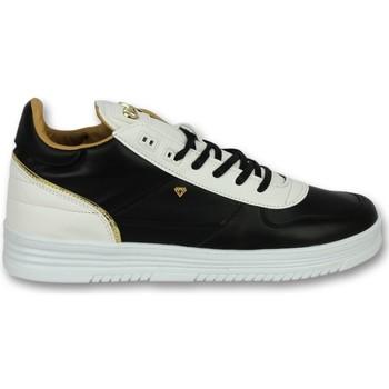 Schuhe Herren Sneaker Low Cash Money Sneaker High Luxury Black White Schwarz, Weiß