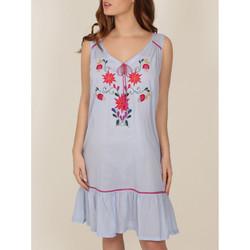 Kleidung Damen Pyjamas/ Nachthemden Admas Mexikanisches Stickerei-Nachthemd blau Blau
