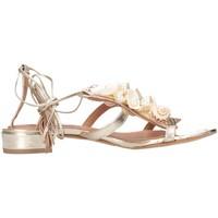 Schuhe Damen Sandalen / Sandaletten Tsakiris Mallas 603 CELIA 6-1 Sandalen Frau Gold Gold
