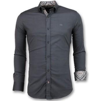 Kleidung Herren Langärmelige Hemden Tony Backer Italienische Hemd Grau