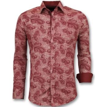 Kleidung Herren Langärmelige Hemden Tony Backer Slim Rot