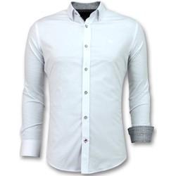 Kleidung Herren Langärmelige Hemden Tony Backer Hemd Elegant Bluse Stretch Weiß