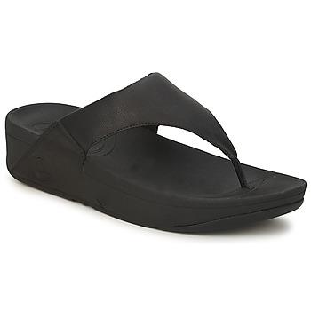 Schuhe Damen Zehensandalen FitFlop LULU LEATHER Schwarz