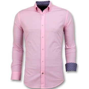Kleidung Herren Langärmelige Hemden Tony Backer Italienische Bluse Pink Rosa