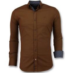 Kleidung Herren Langärmelige Hemden Tony Backer Bluse Braun