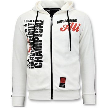 Kleidung Herren Sweatshirts Local Fanatic Trainingsweste Muhammad Ali Print Weiß