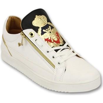 Schuhe Herren Sneaker Low Cash Money Sneaker Prince White Black Weiß