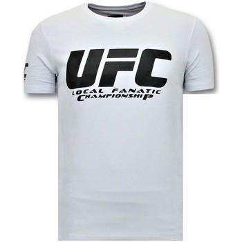 Kleidung Herren T-Shirts Local Fanatic Mit Aufdruck UFC Championship Weiß