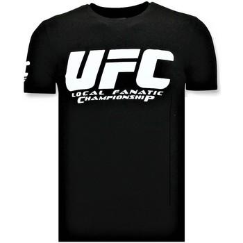 Kleidung Herren T-Shirts Local Fanatic UFC Meisterschaft Schwarz