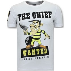 Kleidung Herren T-Shirts Local Fanatic R Print The Chief Weiß