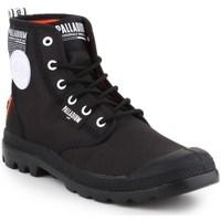 Schuhe Herren Boots Palladium Manufacture Pampa Lite Overlab Schwarz