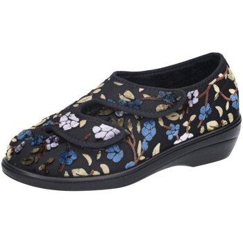 Schuhe Damen Hausschuhe Florett Monza H-Weite 26935-60 schwarz