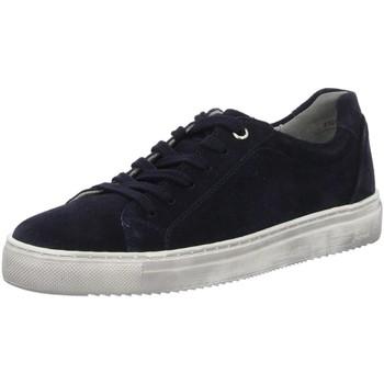 Schuhe Damen Sneaker Sioux Schnuerschuhe Tils Sneaker 65361 deepblue Velour 65361 blau