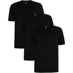 Kleidung Herren T-Shirts Ted Baker 3er Pack Lounge Crew T-Shirts schwarz