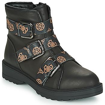 Schuhe Damen Boots Guess WENDY Schwarz