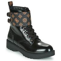 Schuhe Damen Boots Guess WANDA Schwarz