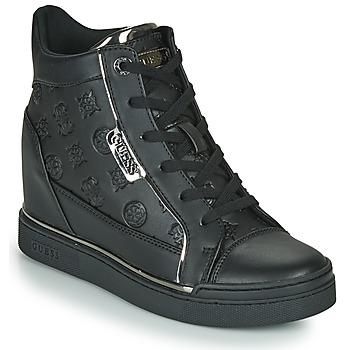 Schuhe Damen Sneaker High Guess FABIA Schwarz