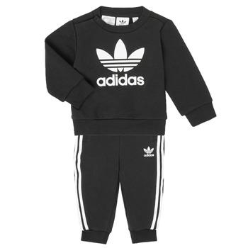 Kleidung Kinder Kleider & Outfits adidas Originals CREW SET Schwarz