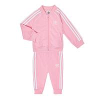 Kleidung Mädchen Kleider & Outfits adidas Originals SST TRACKSUIT Rose