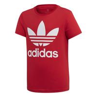 Kleidung Kinder T-Shirts adidas Originals TREFOIL TEE Rot